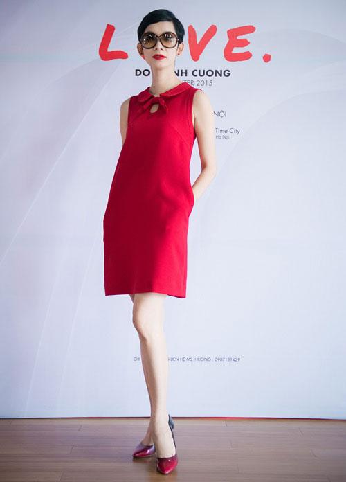 đầm suông đỏ cho người cao