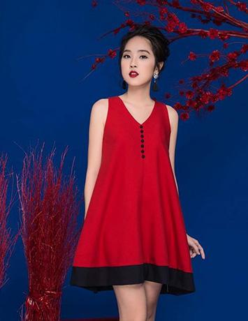 Đầm suông công sở màu đỏ hợp với dáng người nào?