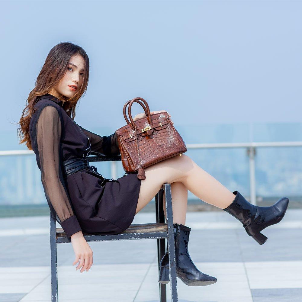 Váy đen liền thân cá tính